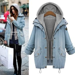 Womens Denim Jacket Washed Blue Retro fashion Hood Cowboy Jackets Jean female Outwear Jaqueta Bomber Abrigos Mujer Veste Windbreaker Coat
