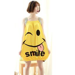 New Korean Sleeping skirt Lady summer dress slingless sleeveless cute cartoon loose girl pajamas summer style