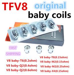 300% Original TFV8 BABY Beast Tank Coils Head V8 Baby-T8 T6 X4 M2 0.15 0.25ohm Q2 0.4 0.6ohm Core
