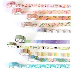 2018 new Cute Lotkawaii Flower food animals Decorative Washi Tape DIY Scrapbooking Masking Tape School Office Supply free shipping 2016