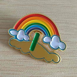 Customized Rainbow Metal Badge, Soft Metallic Commemorative Badge, Colorful Metal Brooch, Metal Medal Customized,size 40*29.4mm