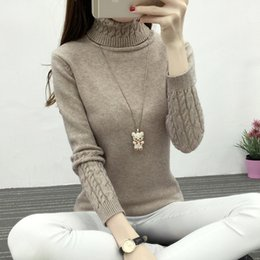 Thicken Warm Knitting Sweaters And Pullovers For Women 2017 Winter Casual Elastic Turtleneck Knitwear Female Jumper Tricot Tops