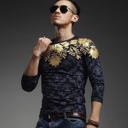 2018 Autumn winter tops men T Shirt Men's long Sleeve T Shirt slim fit men shirt fashion casual breathable bronzing