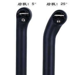 no brand logo New carbon fiber road bicycle seat post mtb bike seatpost carbon cycling parts 190g 31.6  30.8 27.2MM offset 5mm 25mm