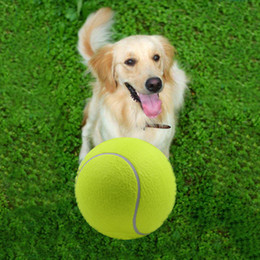 9.5inch inflatable tennis all giant pet toy dog chew toy signature kids toy ball 24cm outdoor supplies