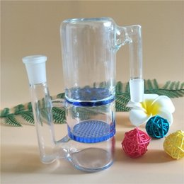 14mm & 18.8mm Joint ash catcher with honey comb and turbine percs for glass bong glass smoking pipe water pipe bongs(AC-005)