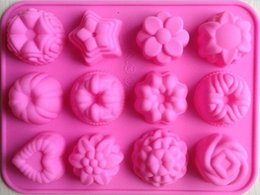 Flower shape Muffin case Candy Jelly Ice cake Silicone Mould Mold Baking Pan Tray Silicone Muffin Cases Cake Cupcake Nonstick Liner Baking