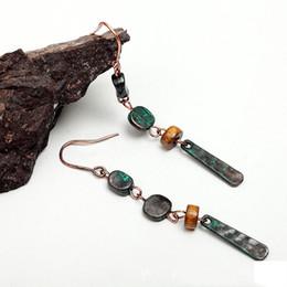 Bohemia Earring Folk-custom Simple Wild Vintage Alloy Beaded Long Section Earring Fashion Personality Wild Upscale Women Jewelry Gift Spot