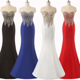 Party Prom Dresses Lace Embroidery Elegant Mermaid Prom Dresses Backless Appliques Burgundy Mermaid Lace Long Royal Blue Black Evening Dress