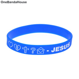 Wholesale 100PCS Lot Jesus Silicone Wristband for Religious Faith Bracelet Perfect To Use In Any Benefits Gift