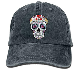 Baseball Cap for Men Women, Sugar Skull Mens Cotton Adjustable Jeans Cap Hat