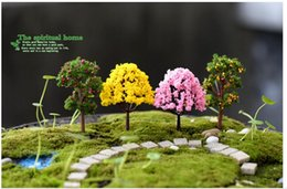 2017 Promotion Artificial Christmas Tree 10pcs Fairy Garden Accessorie Mini Tree Plant Junly Moss Gnome Miniature Christmas Diy Accessories
