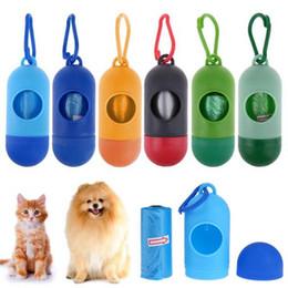 Cute Pet Dog Dispenser Garbage Case Carrier Holder Dispenser With Poop Bags Set Pet Waste Bag Color Random