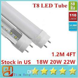 Stock in USA 4ft 18W 22W 28W 45W T8 Led Tube Light 4500lm Led lighting Fluorescent Tube Lamp 1.2m LED tubes