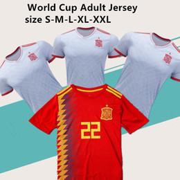 2019 adults T-shirt Spain shirt 2018 men shirts Best Quality adult RAMOS INIESTA ASENSIO ISCO SILVA Casual T-shirt free shipping