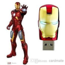 256GB 128GB 64GB Metal Metal Case LED Iron Man Memory Stick Flash Drive Storage USB 2.0 Retail Box Packaging 256GB 128GB 64GB Metal Case