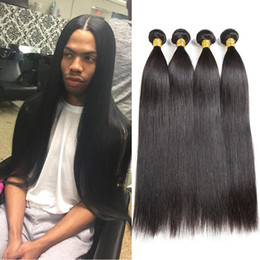 Malaysian Straight Hair 3 or 4 Bundles Virgin Hair Weaves Wholesale Brazilian Peruvian Indian Mongolian Remy Human Hair Bundles Can Be Dyed