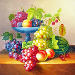 A1337 Fruit 40*40cm 5D DIY BEST Diamond Embroidery Painting Home Decor Diamond Cross stitch 100% Resin Tool dril Painting Mosaic Needlework