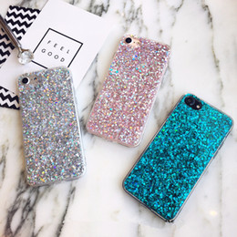 free shipping Smartphone Case for iPhone 6 Case Silicon Bling Glitter Crystal Confetti Soft TPU Cover Fundas for iPhone 6s Plus 2018 new
