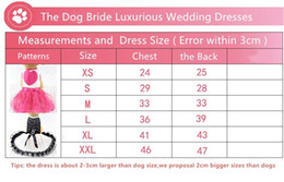 Pet Dog Princess dress Puppy Dog Bowknot Wedding Dress Bling Bling Clothes S M L for Girl Female Dogs Small and Medium