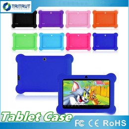 Freeshipping Colorful Q88 Silicone Rubber Back Case for 7 inch A23 A13 Android Tablet PC Retail