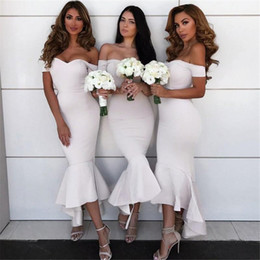 2018 Cheap Mermaid Bridesmaid Dresses African Off Shouder Long Vintage Wedding Guest Gowns Lace Arabic Plus Size Maid Of Honor Dress BA9632