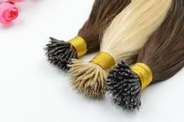 "XCSUNNY Nano Ring Human Hair Extensions 18"" 20"" 100g pk 1g s Nano Links Human Hair Extensions 100% Indian Human Remy Hair"