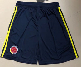 2018 world cup Colombia soccer shorts Colombia Home black Soccer shorts 2018 world cup #10 JAMES Thai Football uniform sales