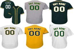 Personalized 2016 New Oakland jersey Mens Womens Kids cheap Customized any name any NO.white grey gold green baseball jerseys size XS-6XL