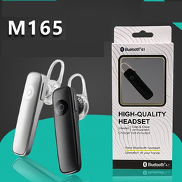 M165 Wireless Stereo Bluetooth Headset Earphone mini wireless bluetooth handfree universal 100PCS LOT Paper Retail package