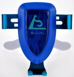 2018 Stylish Car Mount Mobile Phone Holder Gravity Motion Blue from MeLiSu Manufacture