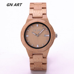 GNART Wood bamboo watch man watches woman watches Fashion watches Casual watch Quartz watch
