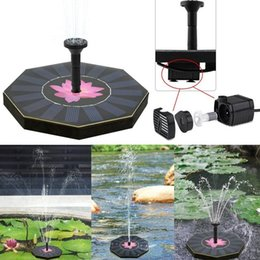 New Floating Octagonal-shaped Solar Floating Fountain Water Pump For Garden Pool Plants Fountain Lotes Leaf Submersible Garden Watering Kit