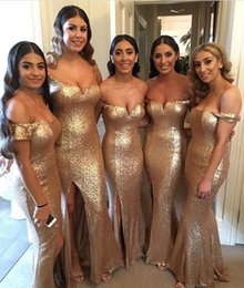 2019 Cheap Long Bridesmaid Dress Sequins Mermaid Short Sleeves Off Shoulder Maid of Honor Backless Beach Wedding Party Gowns BM0205