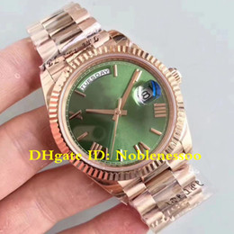2 Color CAL.3255 Movement Luxury Mens 40mm Day-Date President 228235 green Roman Dial 18K Rose Gold Automatic Watches