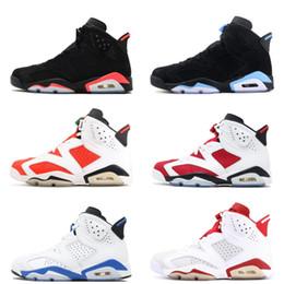 6 basketball shoes carmine Classic 6s Black white infrared UNC blue Chrome low Oreo men women alternate sport blue black cat shoes