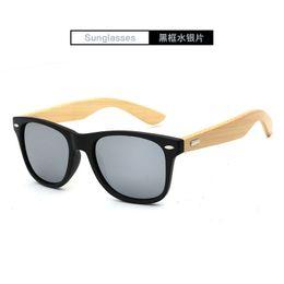 2018 Retro Bamboo Wood Sunglasses Men Women Brand Designer Goggles Gold Mirror Sun Glasses UV400 1501