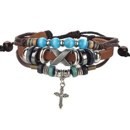 AFSHOR Punk Design Turkish Eye Bracelets For Men Woman New Fashion Wristband Female Owl Leather Bracelet Stone Vintage Jewelry