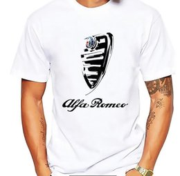 Italy national treasures alfa romeo cars t shirt men white Casual Breathable plus size tee shirt homme Italian style tshirts