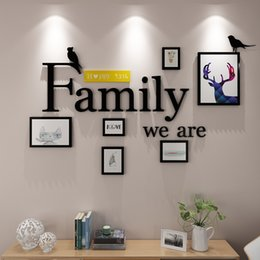 Wooden Photo Frames Wall Combination Diy Wall Paper Photo Frame Modern Painting Frame Multi-frame