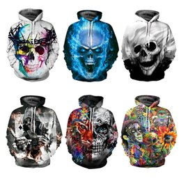 Youthcare Hoodie for Men and Women 3D printed Skull Hoodie Oversize Pullover Long sleeve tops Sweater