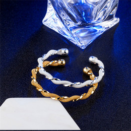 925 Sterling Silver Bangle Fashion Jewelry Coated Mesh Bangle Women Cuff Bracelet Nice Gift Hot Selling