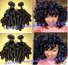 Hot !! new arrival peruvian funmi hair new style boom spiral curl human hair weaving extensions virgin curly hair weft in stock