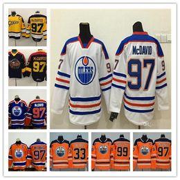 Men Erie Otters Hockey Jerseys Cheap #97 Connor McDavid Jersey 99 Wayne Gretzky 29 Leon Draisaitl 33 Cam Talbot Edmonton Oilers McDavid