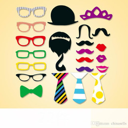 1set 22pcs birthday party Photo Props Moustache Hat Small Eyes Paper Beard Wedding Party Supplies Bachelorette Party Photo Booth hot