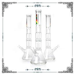 ZOB 18 INCH tall glass beaker bong with UFO pec showerhead percolator bongs smoking glass water Pipe bong big bong ice catcher free shipping