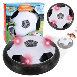 Electric suspended soccer indoor ground induction air cushion edge protection led light booth night market toy