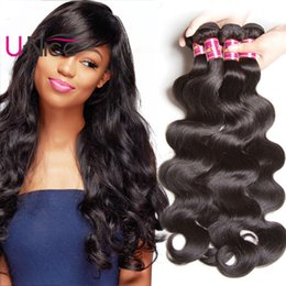 UNice Hair Raw Indian Hair Body Wave Human Hair Extensions 4 Bundles Indian Weave Bundles Virgin Human Wefts Cheap Wholesale Bulk