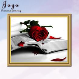 Joyo,DIY resin diamondpaint picture cross stitch,red and black series rose books,home decor,restaurant decoration,perfect design,pretty gift