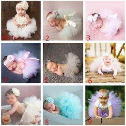 Newborn Baby Photo Props Tutu Dress Infant Photography Costume Tutu Skirt With Headware 2pcs set Baby Photography Props Baby Girl Dress 942